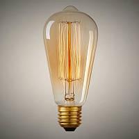 Лампа Эдисона E27 ST64 40W 2700K Amber