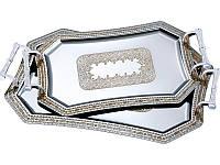 Набор из 2 металлических подносов 913-002