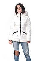 Белый зимний пуховик Clasna