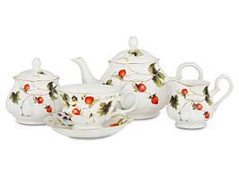 """Фарфоровый чайный сервиз на 15 предметов """"Лесная ягода"""" Lefard 943-004"""