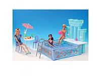 Мебель Gloria бассейн, столик, стулья, зонт, посуда, 2878