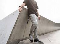 Штаны спортивные мужские рифленые с замками на резинке НОВИНКА 2017 года