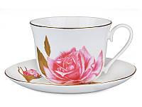 """Фарфоровая чайная пара """"Роза"""" Lefard 200 мл 264-429"""