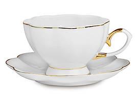 """Фарфоровый чайный набор на 6 персон """"Классика"""" 200 мл Lefard 920-034"""