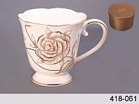 """Фарфоровая кружка Lefard """"Роза"""" 285 мл 418-061"""