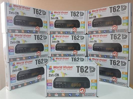 Бюджетный ТВ цифровой эфирный Т2 тюнер ресивер приемник приставка World Vision T62D AC3 Dolby Digital