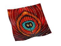 Декоративная стеклянная конфетница Перо Жар-Птицы 487-057