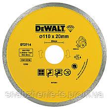 Диск алмазний 110 х 1,6 х 20,0 мм, сплошной, сухой и мокрый рез, для плиткореза DeWALT