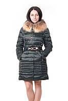 Женская зимняя куртка Vininus с мехом енот