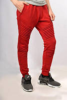 Штаны спортивные мужские рифленые красные на резинке НОВИНКА 2017 года