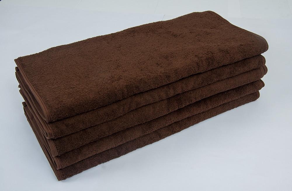 Полотенце махровое Lotus коричневое 70*140 оптом