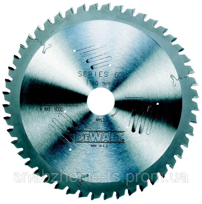 Пильный диск 190 х 30 мм по дереву для ручных дисковых пил, кол-во зубьев 40, передний угол 10°, WZ (ATB), Extreme DeWALT