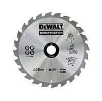 Пильный диск 250 х 30 мм по дереву для стационарных пил, кол-во зубьев 24, передний угол +10°, WZ (ATB), DeWALT