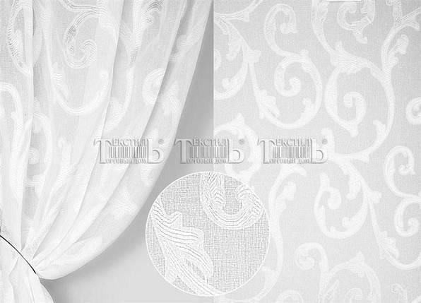 Тюль лен Вензель белый, 3метра, фото 2
