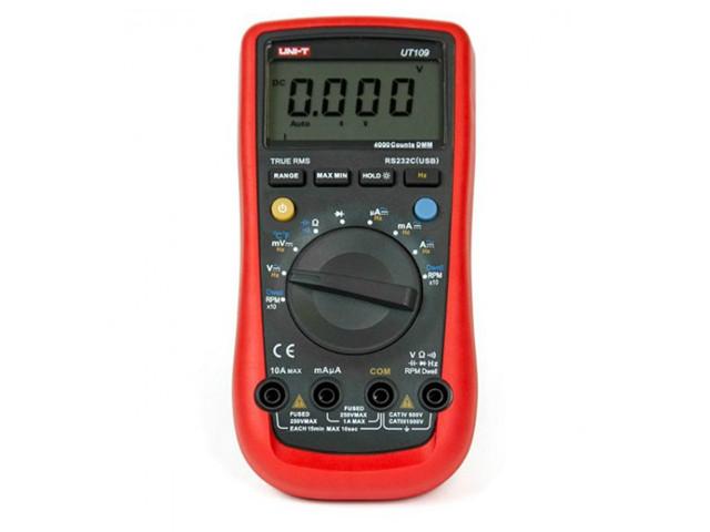 Мультиметр UNI-T UTM 1109 (UT109), цифровой, автомобильный
