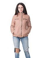 Куртка бежевая Snow Beauty женская киев, харьков, одесса