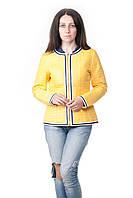 Куртка женская Salco демисезонная желтая, фото 1