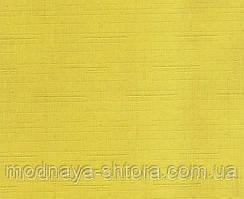 """Тканевые рулонные шторы """"Oasis"""" лен (желтый), РАЗМЕР 40х170 см"""