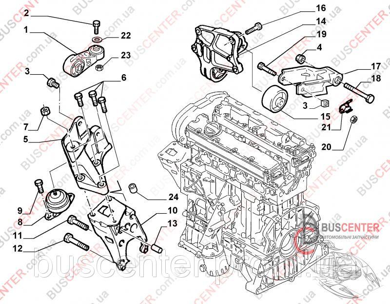 подушка двигателя левая fiat scudo akron ma15616/2