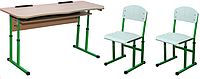 Комплект парта+2 стула (1-11 класс) антисколиоз