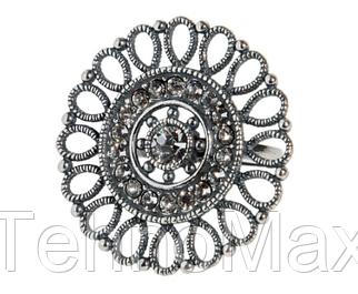 """Кольцо """"Кристоль"""" с кристаллами Swarovski, покрытое серебром (j0543000) 16      xx 48266"""