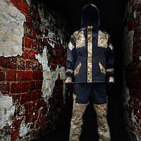 Костюм Горка 3 черная, украинский пиксель, фото 1