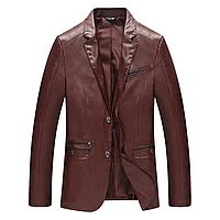 Мужская кожаная куртка.  Модель 6320