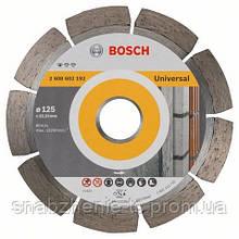 Алмазный отрезной круг 125 x 22,23 мм для обработки стройматериалов Standard for Universal BOSCH