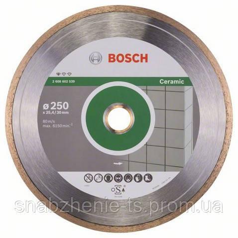 Алмазный отрезной круг 250 x 30/25,4 мм для керамической плитки Standard for Ceramic BOSCH