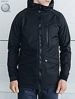 Весенне-осенняя куртка (парка) Staff - Soft Shell black Art. BR0017 (чёрный)