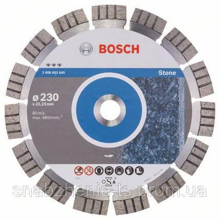 Алмазный отрезной круг 230 x 22,23 мм гранит или армированный бетон Best for Stone BOSCH, фото 2
