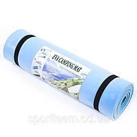Спортивный коврик  для фитнеса синий EVA