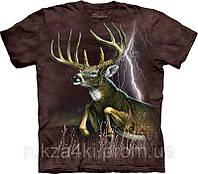 3D футболка The Mountain 103363 Deer Lightning
