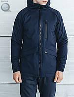 Весенне-осенняя куртка (парка) Staff - Soft Shell navy Art. BR0018 (синий)