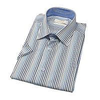 Приталенные мужские рубашки с коротким рукавом размер L