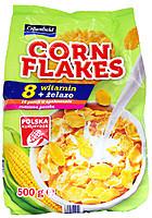 Кукурузные хлопья Crownfield Corn Flakes с витаминами +железо Польша 500г.