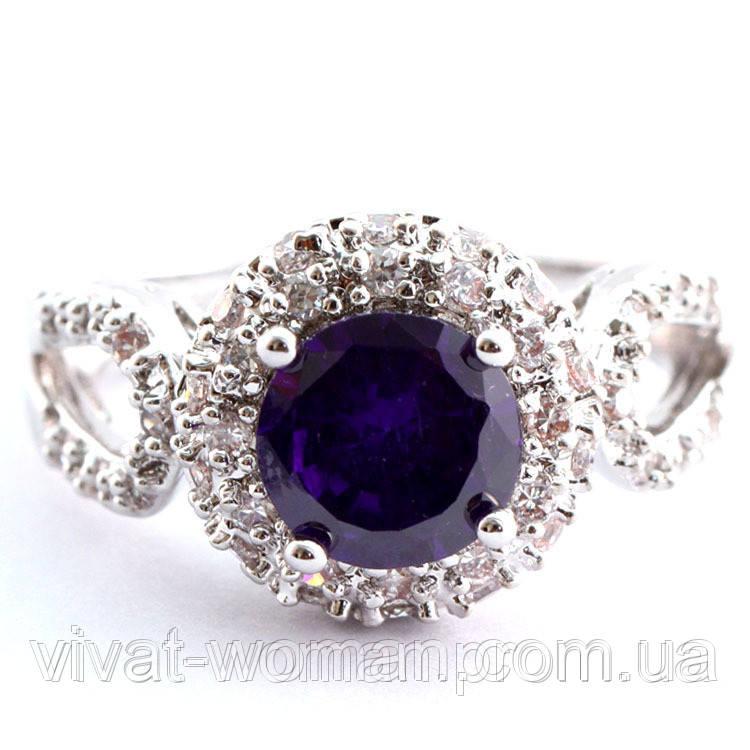 Кольцо, покрытие серебром 925 пробы, куб. цирконий