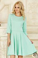Платье  с рельефами мятного цвета