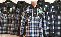 Мужская рубашка тёплая клетка А-2