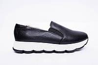 Слипоны №340-1654-4 черный флотар, фото 1