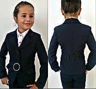 """Детский школьный пиджак для девочки """"Shokil"""" с поясом и карманами (2 цвета)"""