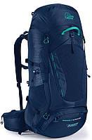 Синий трекинговый рюкзак Lowe Alpine Manaslu ND55:65 Blue Print, LA FBP-88-BP-55, 71х36х29, нейлон, 55+10 л.