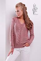 Красивые женские свитера Цветана-4 из шерстяной нити