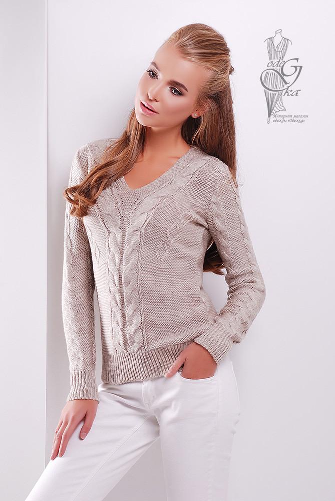 Красивые женские свитера Цветана-5 из шерстяной нити