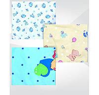 Пеленка теплая детская цветная, 100 % хлопок, фланель, 0,9 х 1,1 м