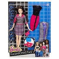 Оригінальна лялька Барби Модница с набором одежды, Barbie Fashionistas Doll & Fashions Chic With A Wink