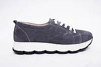 Кроссовки №342-1654-2 серый замш, фото 1