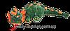 Мягкая игрушка Дракон плюшевый зеленый 200 см