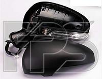 Зеркало лев. эл. с обогр. склад. грунт. асферич. 9 PIN +УК. пов. +подсвет.  Toyota Avensis 2009-11