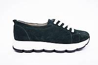 Кроссовки №342-1654-6 зеленый замш, фото 1
